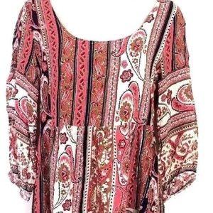 Umgee Paisley print tunic/dress sz S